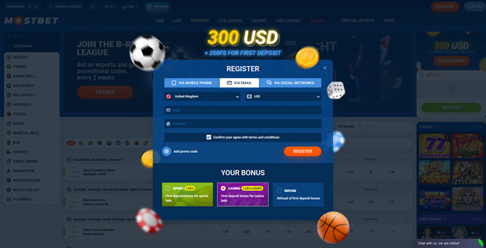 How to start playing with Mostbet